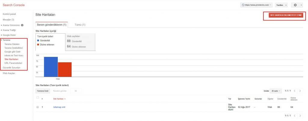 sitenize search console eklemek
