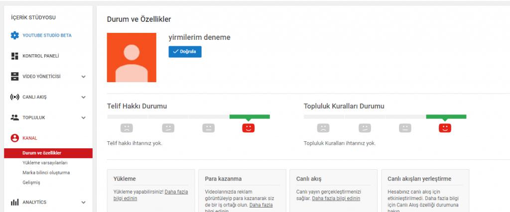 youtube kanalınızı doğrulamak