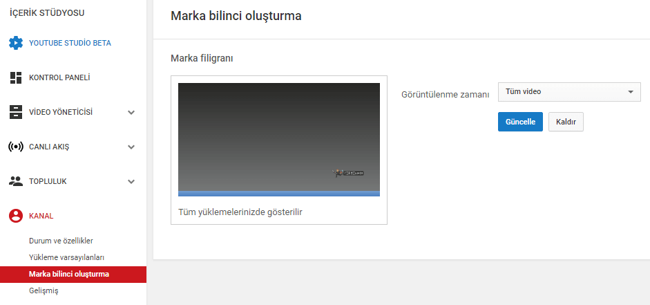 youtube marka bilinci