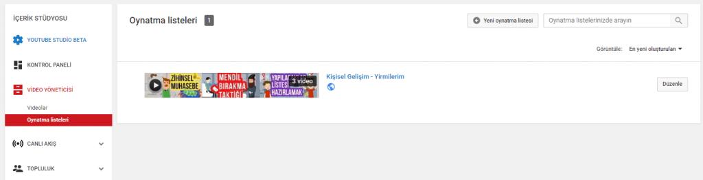 youtube oynatma listesi