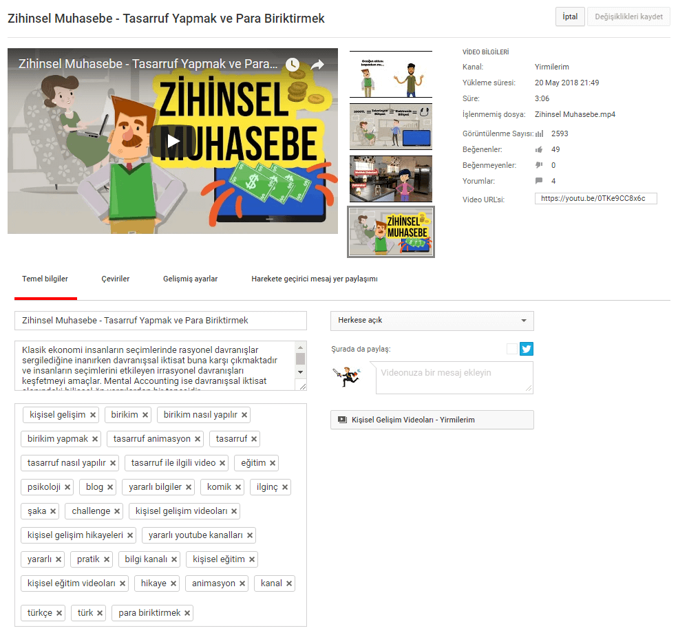 youtube video optimizasyonu