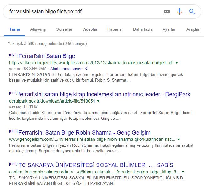 google kullanma yöntemleri